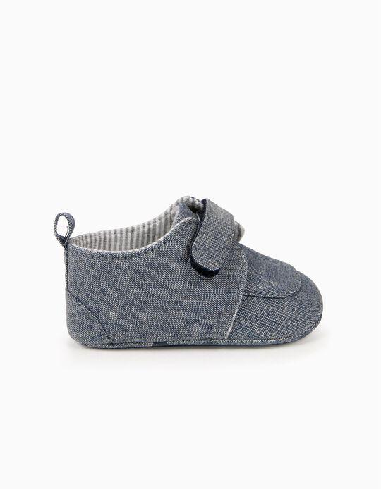 Zapatos para Recién Nacido con Pieza Autoadherente, Azul