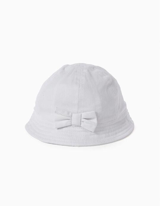 Sombrero con Lazo Blanco