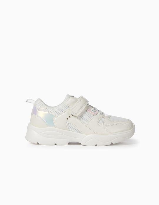 Zapatillas Chunky para Niña 'Superlight Runner', Blancas