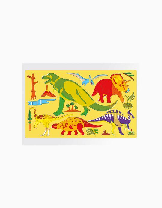 Juego Stencil Dinosaurios Quercetti