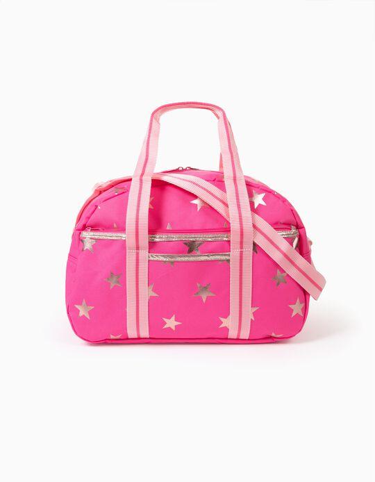 Sports Bag for Girls 'Stars', Pink/Golden