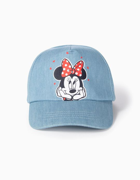 Denim Cap for Girls 'Minnie', Light Blue
