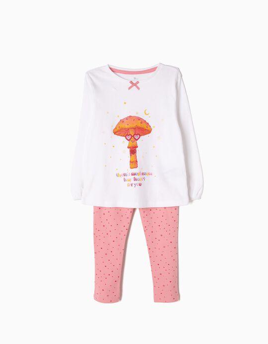 Pijama Manga Comprida e Calças Mushroom