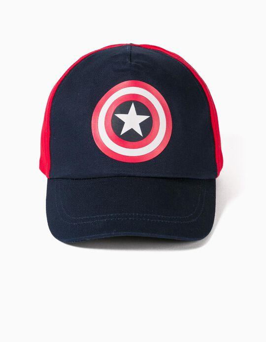 Gorra para Niño 'Capitán América', Azul/Rojo
