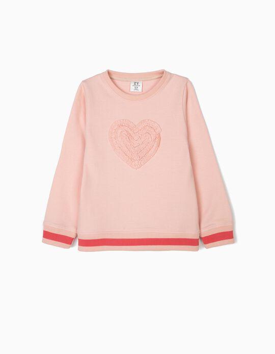Sweatshirt para Menina 'Heart', Rosa