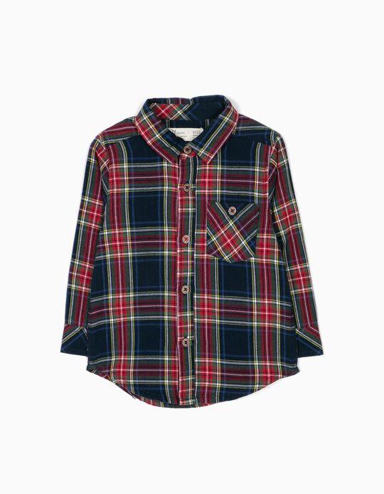 Camisa Bebé Menino Xadrez B&S