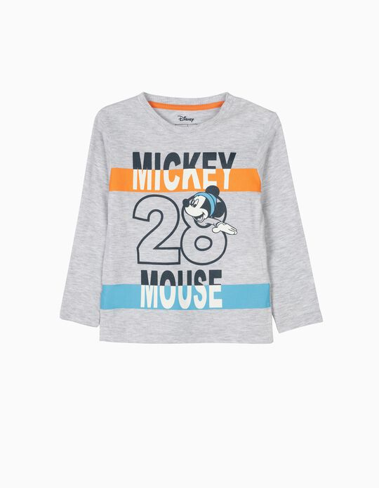 Camiseta de Manga Larga Mickey Mouse 28 Gris