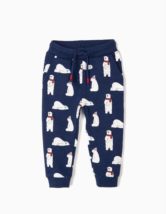 Pantalón de Chándal para Bebé Niño 'Bears', Azul