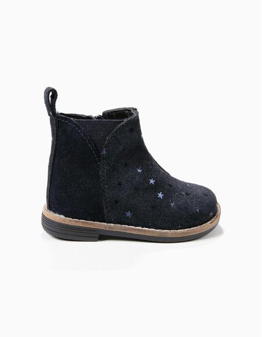 Botas Camurça Azuis Estrelas
