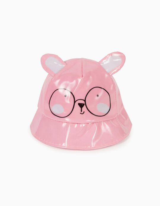 Waterproof Hat for Girls 'Glasses', Pink
