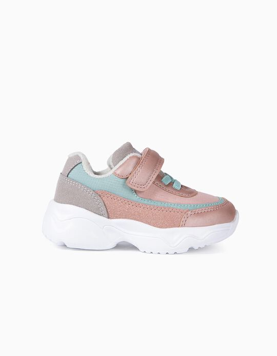 Zapatillas Chunky para Bebé Niña 'Superlight Runner', Rosa