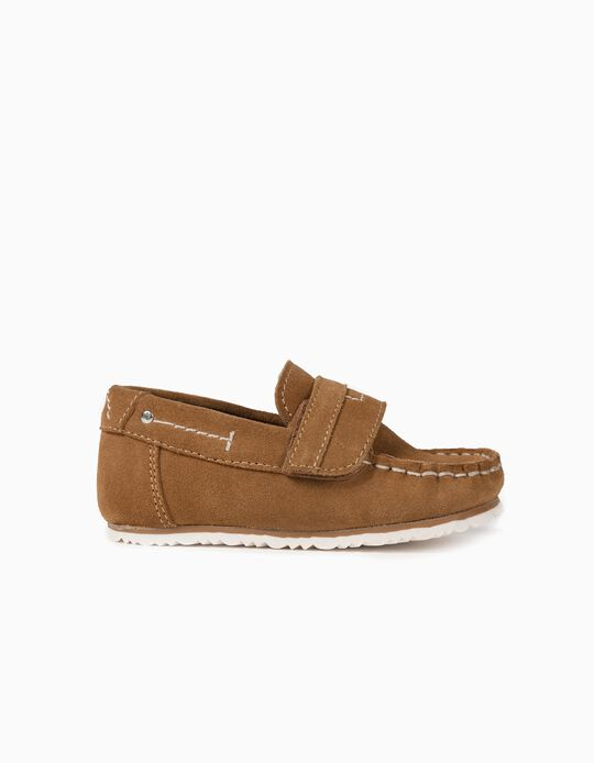 Suede Shoes for Baby Boys, Camel