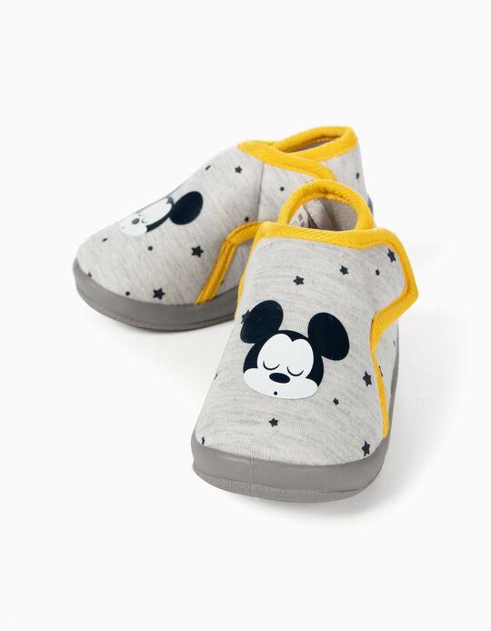 Pantufas para Bebé Menina 'Mickey', Cinza
