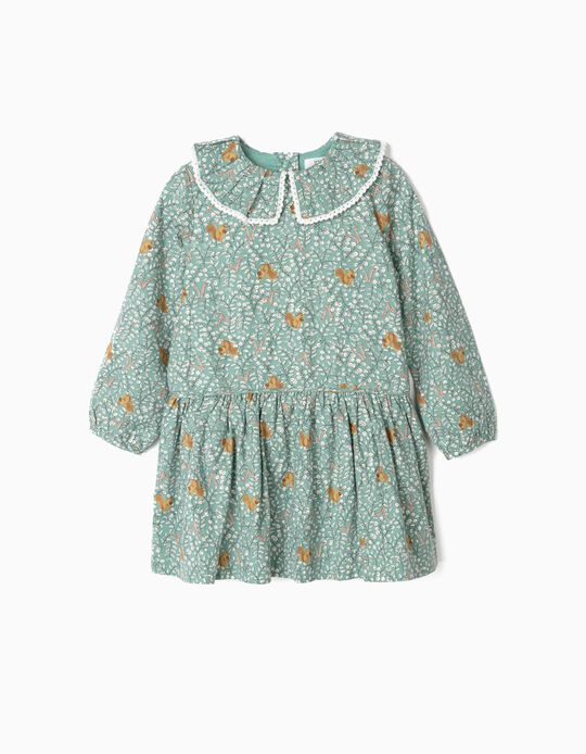 Dress for Girls 'Squirrels', Green