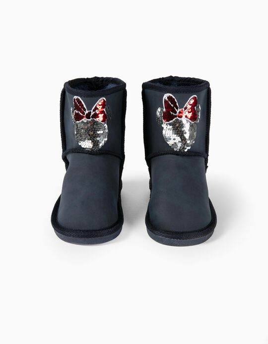 Boots with Faux Fur Trim for Girls 'Minnie Mouse', Dark Blue