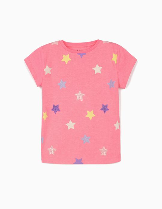 T-shirt for Girls, 'Stars', Pink