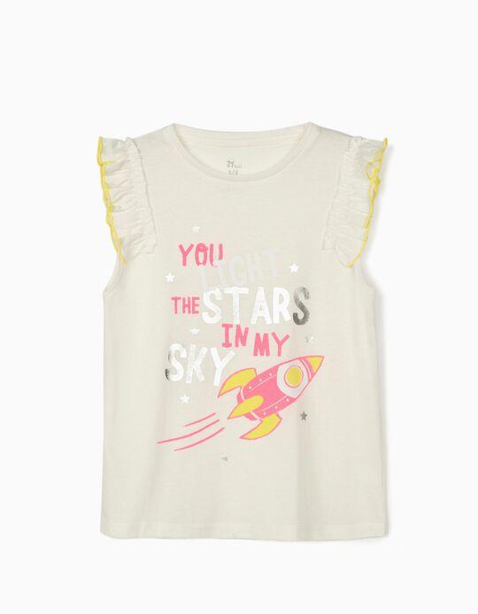 Camiseta sin Mangas para Niña 'Stars', Blanca