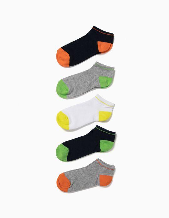 Pack de 5 Pares de Calcetines por el Tobillo