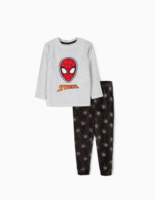 Pijama Terciopelo para Niño 'Spiderman', Gris
