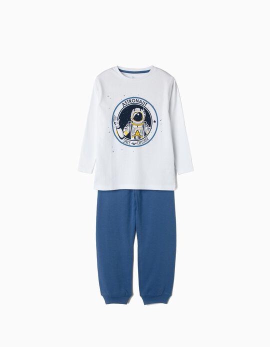 Pijama para Menino 'Astronaut', Branco e Azul