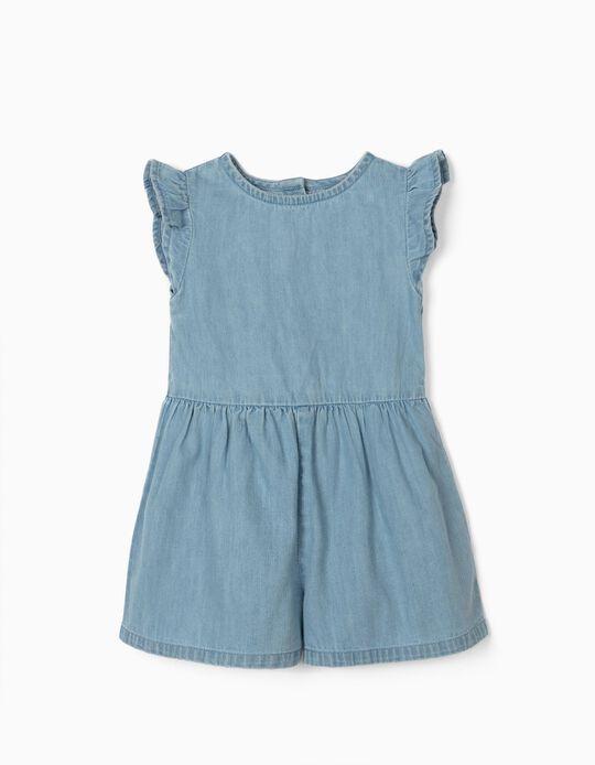 Combinaison en jean bébé fille 'Confort Denim', bleu clair