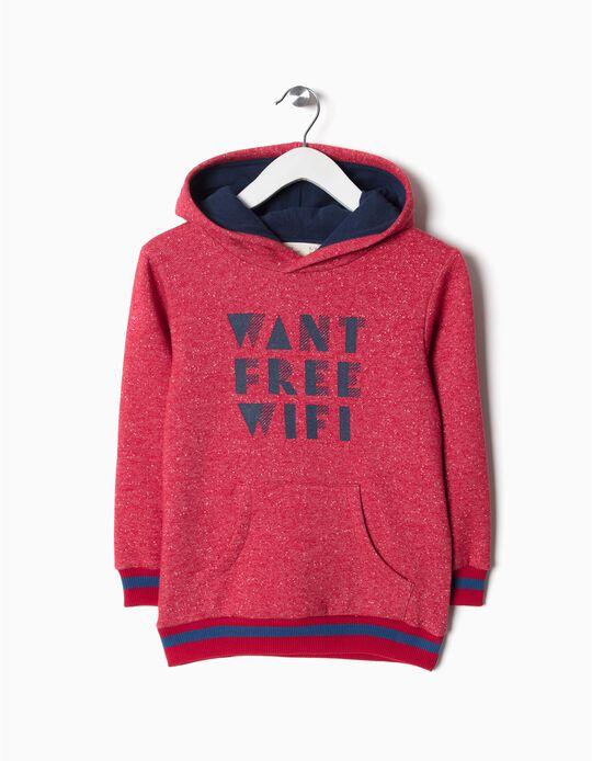 Sweatshirt com capuz free wifi