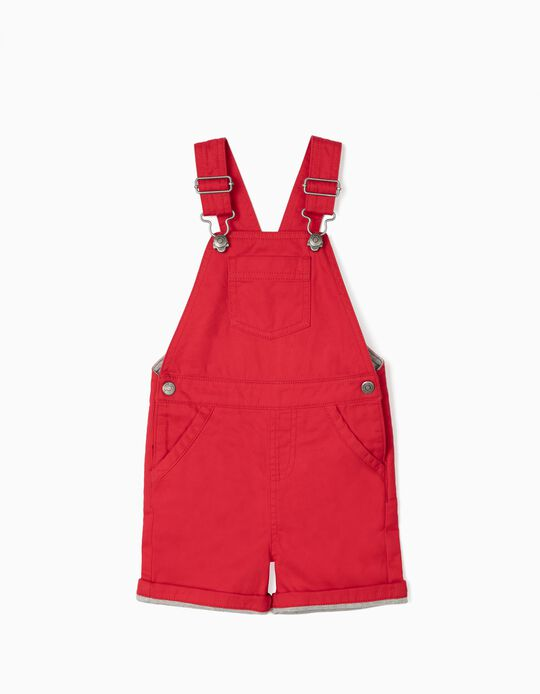 Short Dungarees for Baby Boys, Red