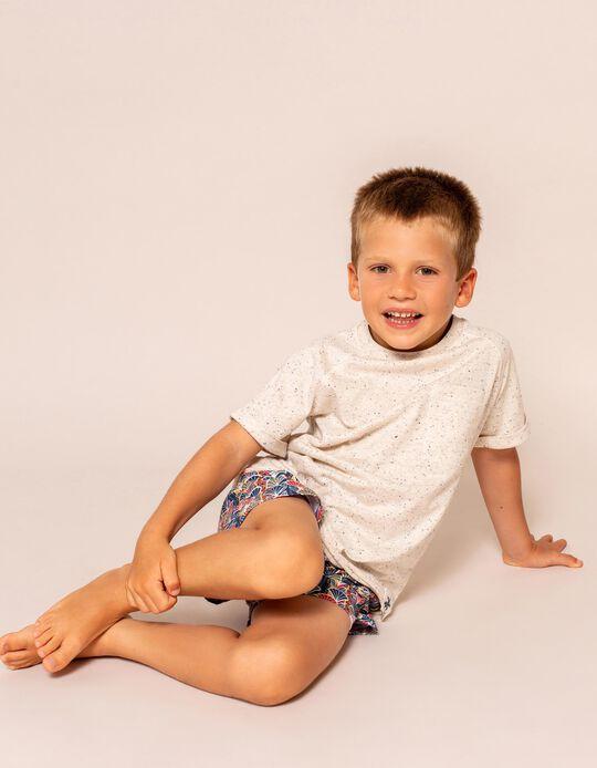 Camiseta con Bolsillo para Niño, Beige