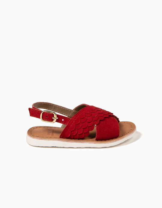 Sandalias Escamas Rojas