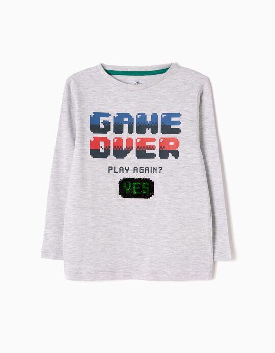 Camiseta de Manga Larga Game Over