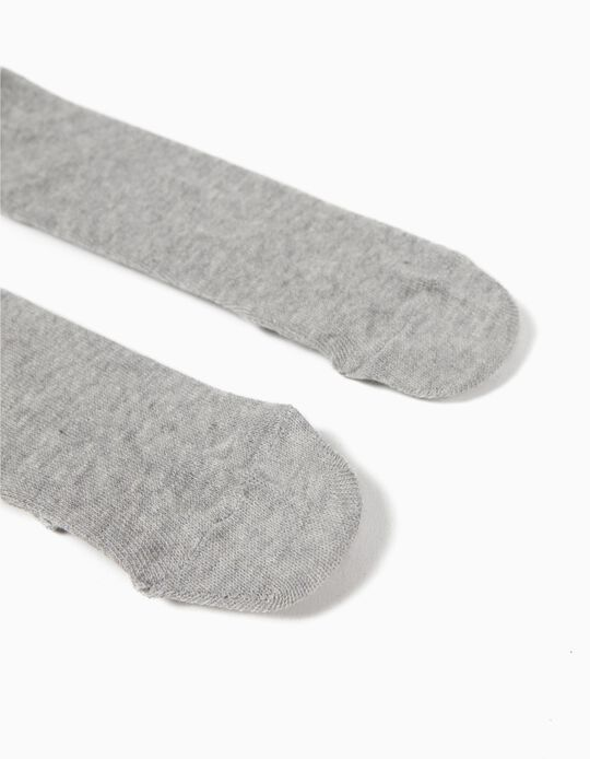 Collants en maille Bébé, Gris