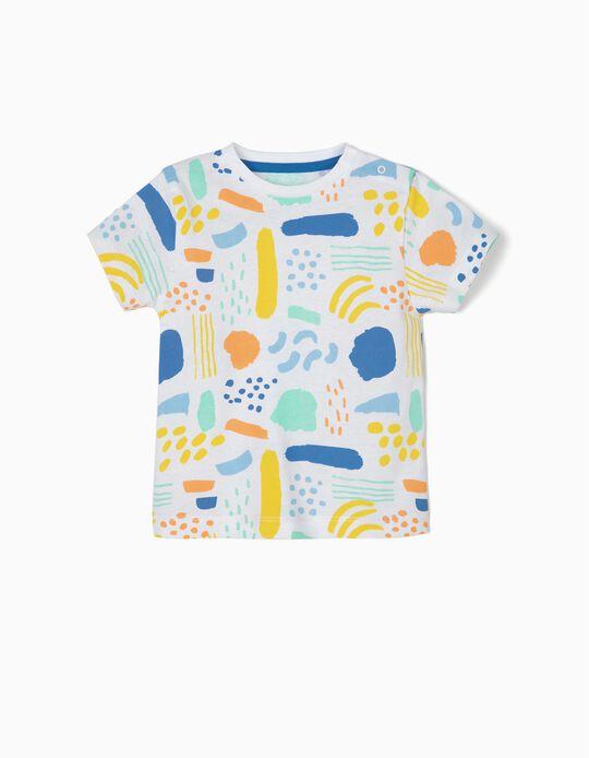 Camiseta para Bebé Niño 'Colors', Blanco