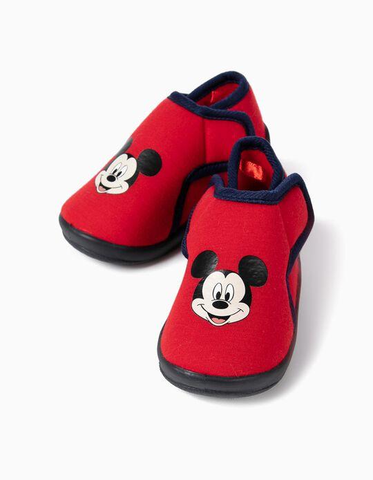 Zapatillas de Casa para Bebé Niño 'Mickey Christmas', Rojas