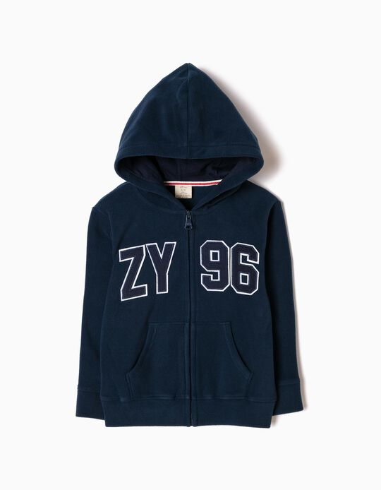 Casaco Polar com Capuz ZY Azul Escuro