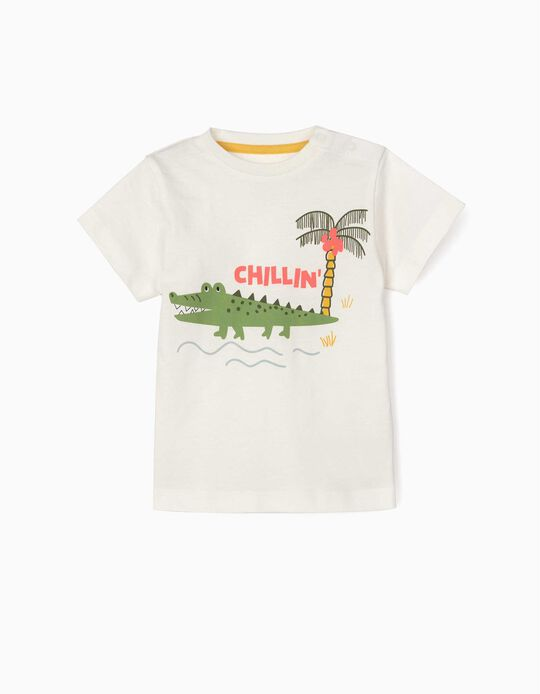 T-shirt for Baby Boys, 'Chillin', White