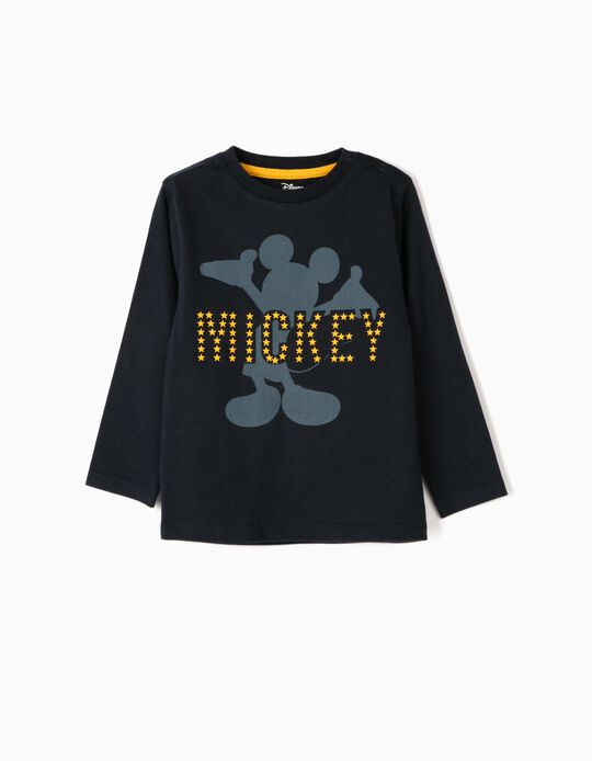 Long-sleeve Top for Baby Boys 'Mickey', Dark Blue