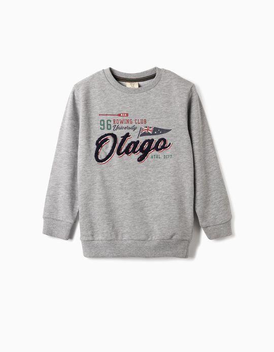 Sweatshirt para Menino 'Otago', Cinza