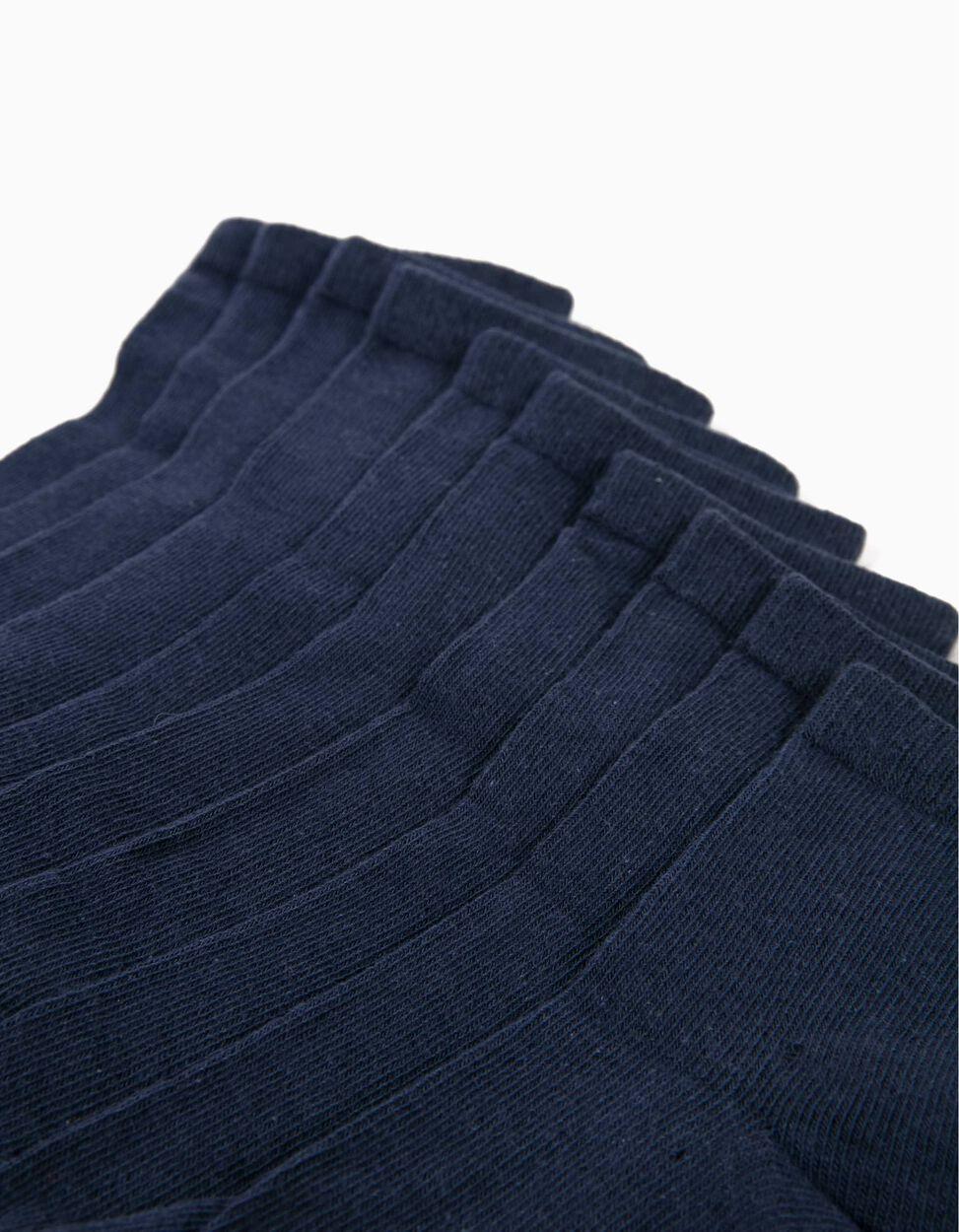 Pack 5 Pares de Calcetines Azules