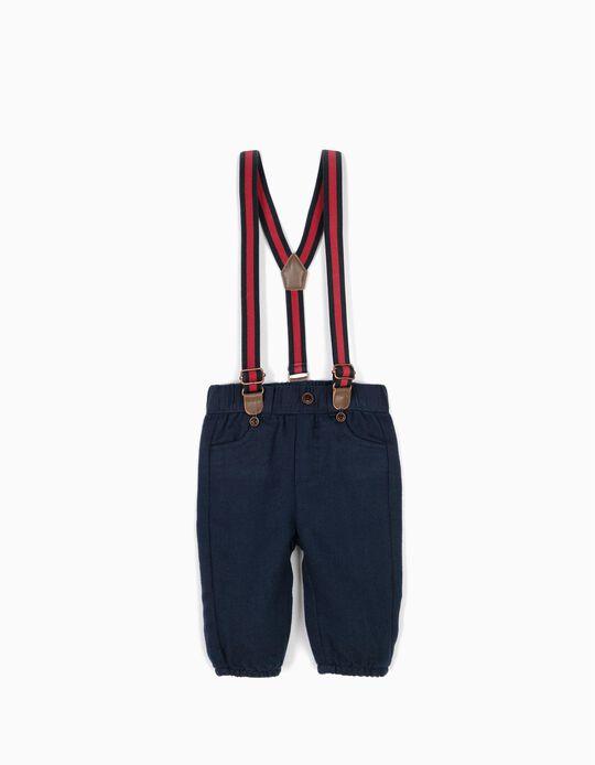 Pantalón Azul con Tirantes