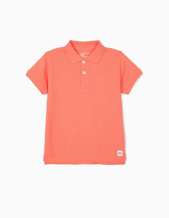 Polo Shirt for Boys, Coral