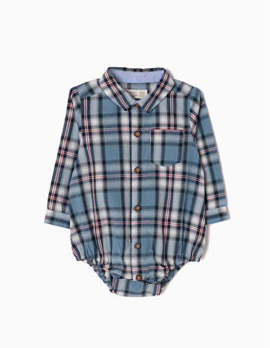 Body-Camisa Ajedrez Azul