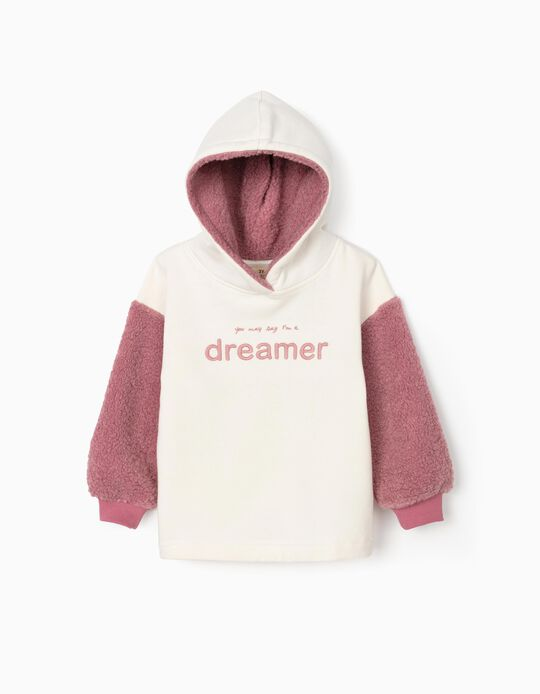 Sudadera para Niña 'Dreamer', Blanca/Rosa