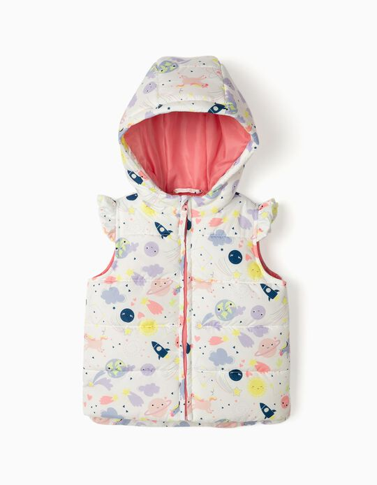 Padded Bodywarmer for Baby Girls, White