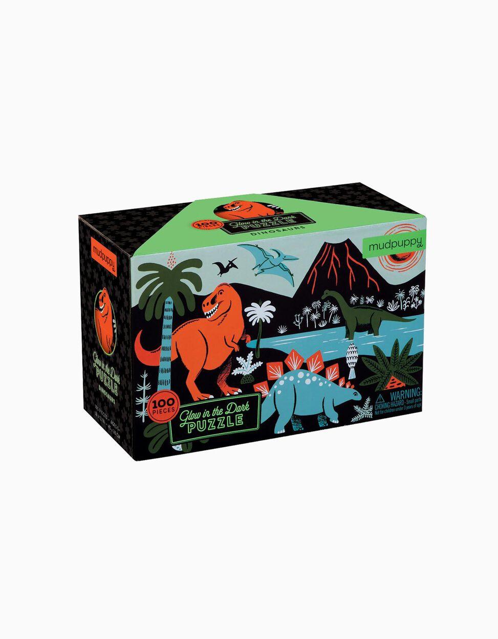 Puzzle de Dinossauros que brilha no escuro Mudpuppy