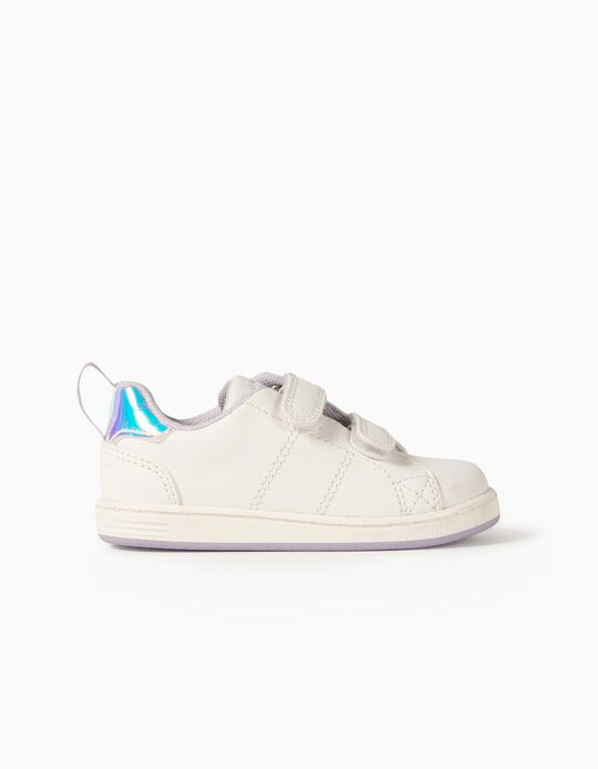 Baskets bébé fille 'ZY 1996', blanc/lilas