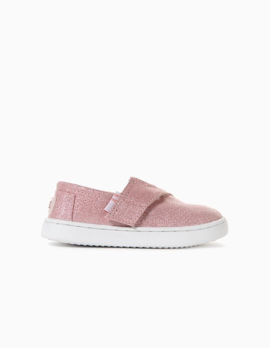 Sparkly Slip-On Trainers for Baby Girls, Pink