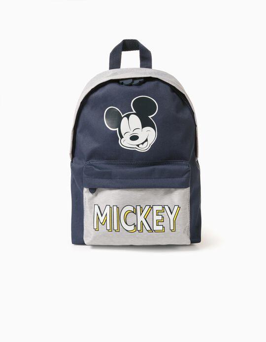 Backpack for Boys 'Mickey', Grey/Dark Blue