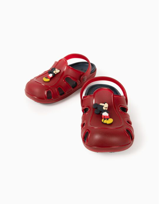 Clog Sandals for Boys, 'Mickey Mouse', Red/Blue