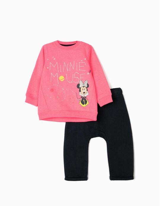 Chándal para Bebé Niña 'Minnie Mouse', Rosa/Azul Oscuro