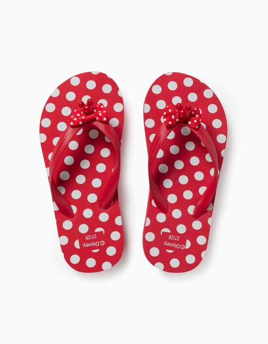 Tongs fille 'Minnie', rouge